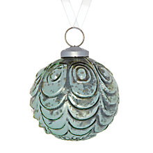 Buy John Lewis Mercurised Scallop Glass Bauble Online at johnlewis.com
