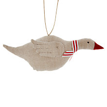 Buy Cambric & Cream Linen Goose Tree Decoration Online at johnlewis.com