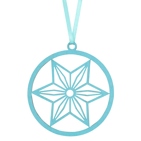 Buy House by John Lewis Laser Cut Star Tree Decoration, Blue Online at johnlewis.com