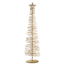 Buy John Lewis Gold Wire Swirl Christmas Tree Online at johnlewis.com