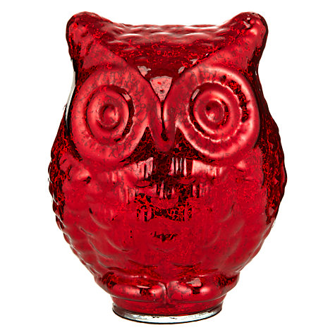Buy John Lewis Glass Mercurised Owl Online at johnlewis.com