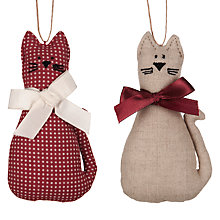 Buy Cambric & Cream Rural Cat Tree Decoration, Assorted Online at johnlewis.com