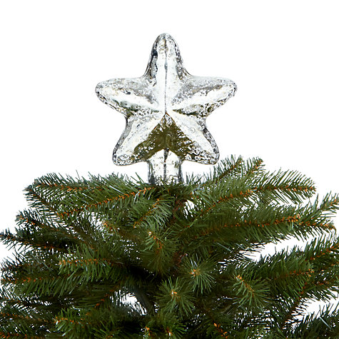 Buy John Lewis Mercurised Glass Star Tree Topper Online at johnlewis.com