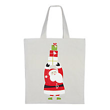 Buy John Lewis Father Christmas Tote Bag Online at johnlewis.com
