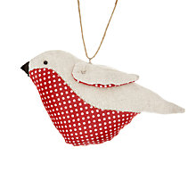 Buy Cambric & Cream Spot Robin Tree Decoration Online at johnlewis.com