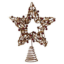 Buy John Lewis Rattan Star Tree Topper Online at johnlewis.com