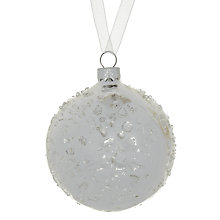 Buy John Lewis Sugared Glass Bauble Online at johnlewis.com