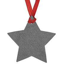 Buy John Lewis Slate Star Tree Decoration Online at johnlewis.com