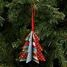 Buy House by John Lewis Wooden Tree Decoration, Multi Online at johnlewis.com