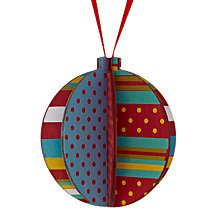 Buy House by John Lewis Wooden Bauble, Multi Online at johnlewis.com