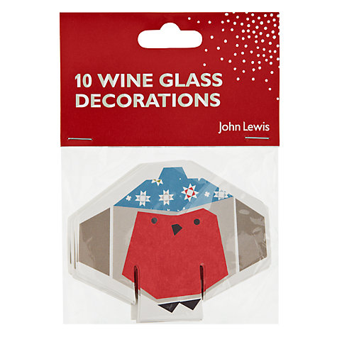 Buy John Lewis Woodland Wonder Glass Place Cards, Pack of 10 Online at johnlewis.com