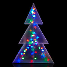 Buy John Lewis Indoor Holographic Christmas Tree Light, H75cm Online at johnlewis.com
