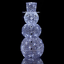 Buy John Lewis Large Outdoor Acrylic Snowman Light Online at johnlewis.com
