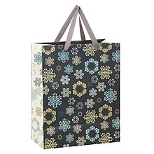 Buy John Lewis Odyssey Snowflake Gift Bag, Medium Online at johnlewis.com