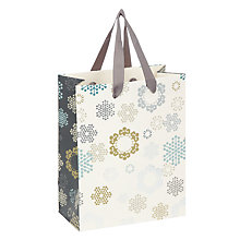Buy John Lewis Odyssey Snowflake Gift Bag, Small Online at johnlewis.com