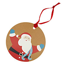 Buy John Lewis Santa Gift Tags, Pack of 8 Online at johnlewis.com