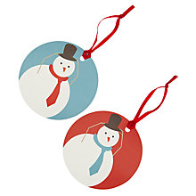 Buy John Lewis Snowman Gift Tags, Pack of 8 Online at johnlewis.com