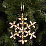 Buy John Lewis Wooden Snowflake Tree Decoration Online at johnlewis.com