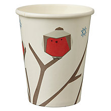 Buy John Lewis Woodland Wonder Paper Cups, Pack of 8 Online at johnlewis.com