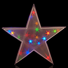 Buy John Lewis Indoor Battery-Operated Holographic Christmas Star Light Online at johnlewis.com