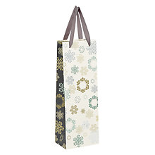 Buy John Lewis Odyssey Snowflake Bottle Gift Bag Online at johnlewis.com