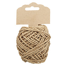 Buy John Lewis Twisted Jute String, L15m Online at johnlewis.com