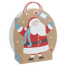 Buy John Lewis Santa Die Cut Gift Bag Online at johnlewis.com