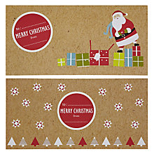 Buy John Lewis Santa Money Wallets, Pack of 2 Online at johnlewis.com