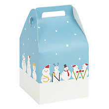 Buy John Lewis Snowman Pop Up Gift Bag Online at johnlewis.com