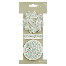 Buy John Lewis Vintage Holly Bow, Tag and Ribbon Set Online at johnlewis.com