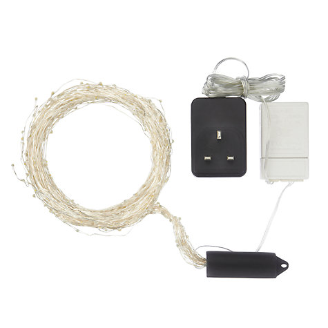 Buy John Lewis Indoor LED Waterfall Christmas Lights, x640, Soft White Online at johnlewis.com