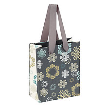 Buy John Lewis Odyssey Snowflake Gift Bag, Mini Online at johnlewis.com