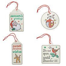 Buy Hope & Greenwood Top Notch Christmas Gift Tags, Pack of 8 Online at johnlewis.com
