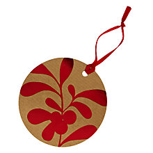 Buy John Lewis Mistletoe Gift Tags, Pack of 8, Red Online at johnlewis.com