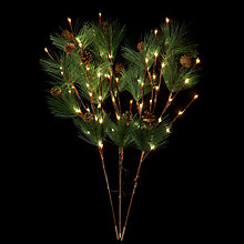 Buy John Lewis Indoor/Outdoor Twig Christmas Tree Branch Light, Green Online at johnlewis.com