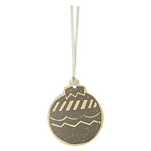 Buy John Lewis Vintage Bauble Gift Tags, Pack of 8 Online at johnlewis.com