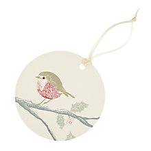 Buy John Lewis Vintage Robin Gift Tags, Pack of 4 Online at johnlewis.com