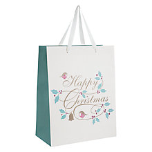 Buy John Lewis Vintage Sleigh Gift Bag, Medium Online at johnlewis.com