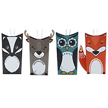 Buy John Lewis Woodland Animals Tree Pouch Gift Boxes, Pack of 4 Online at johnlewis.com