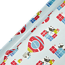 Buy John Lewis Panda and Presents Wrapping paper, L10m Online at johnlewis.com