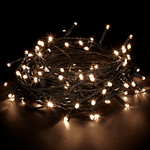 Buy John Lewis Indoor/Outdoor LED Christmas Line Lights, x100, Multi/White Online at johnlewis.com