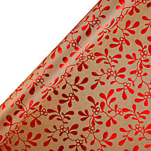 Buy John Lewis Mistletoe Gift Wrap, 3m, Red Online at johnlewis.com