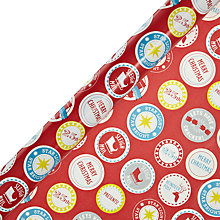 Buy John Lewis Christmas Badges Wrapping Paper, L10m Online at johnlewis.com