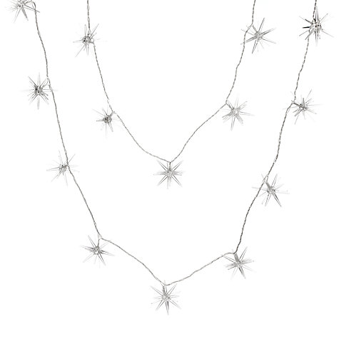 Buy John Lewis Indoor LED Spiky Christmas Line Lights, x16, Soft White Online at johnlewis.com