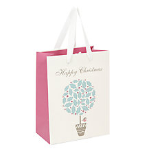 Buy John Lewis Vintage Topiary Gift Bag, Small Online at johnlewis.com