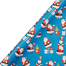 Buy John Lewis Santa Flitter Wrapping Paper, L3m Online at johnlewis.com