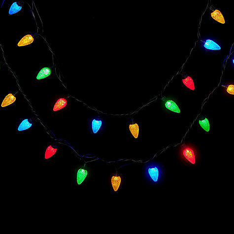 Buy John Lewis Outdoor LED Retro Jewels Christmas Line Lights, x40, Multi Online at johnlewis.com