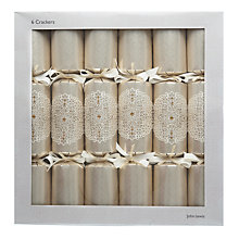 Buy John Lewis Broderie Luxury Crackers, Set of 6 Online at johnlewis.com