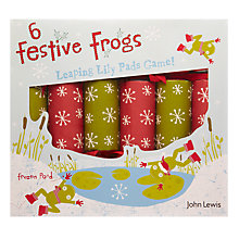 Buy John Lewis Festive Frogs Game Crackers, Set of 6 Online at johnlewis.com