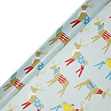 Buy John Lewis Woodland Reindeer Gift Wrap, 3m Online at johnlewis.com